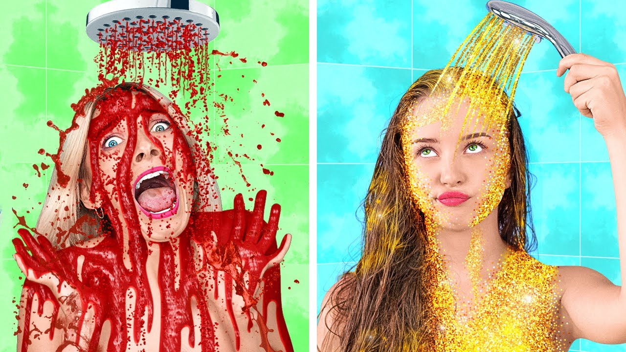 CRAZY BATHROOM PRANKS    Bathroom DIY Pranks And Tricks By 123 GO Like!