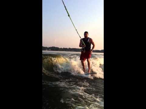 Wake Surfing Demonstrated