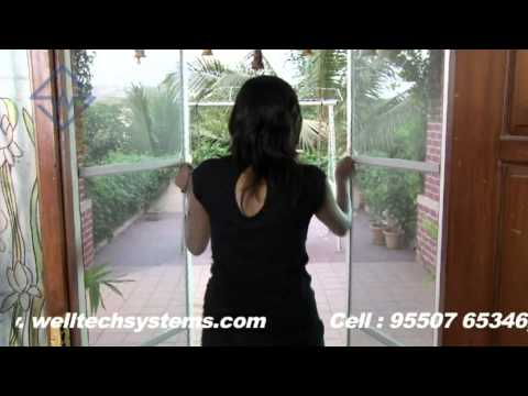 Mosquito Mesh Doors Hyderabad / Mosquito Screen double doors and single doors