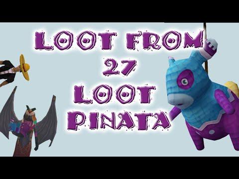 Runescape Loot From 27 Loot Pinata Bags - Treasure Hunter