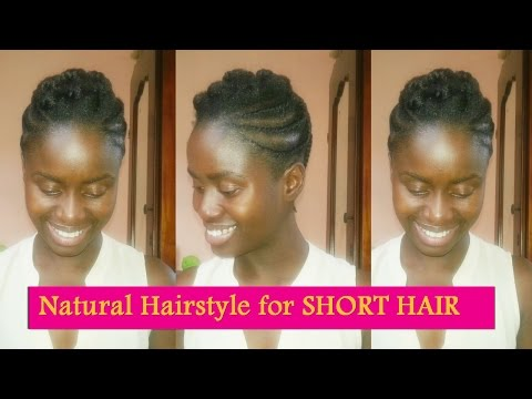 Flat Twisted Pompadour NATURAL HAIRSTYLE for short hair