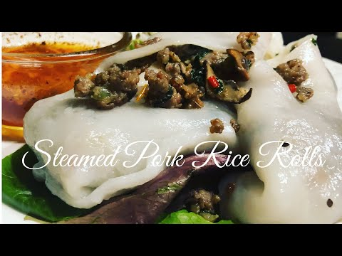 Asian Cooking:  How I Make Steamed Rice Rolls From Leftovers Pork Stuffing From Steamed Buns Recipe