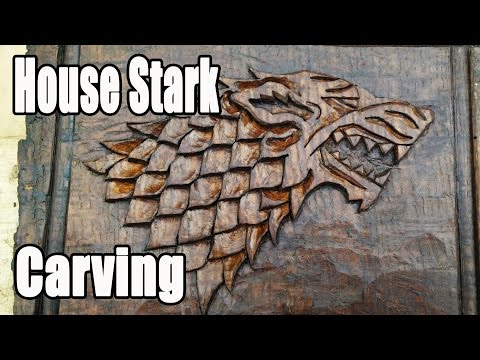 Game Of Thrones - House Stark Carving