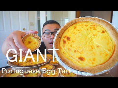 GIANT PORTUGUESE EGG TART | Mukbang | Recipe | Pasteis de Nata | QT