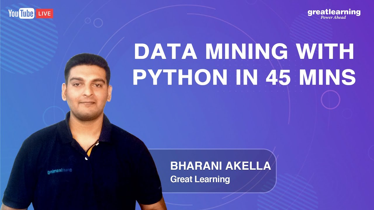 Data Mining with Python in 45 mins | Data Mining Tutorial for Beginners | Great Learning