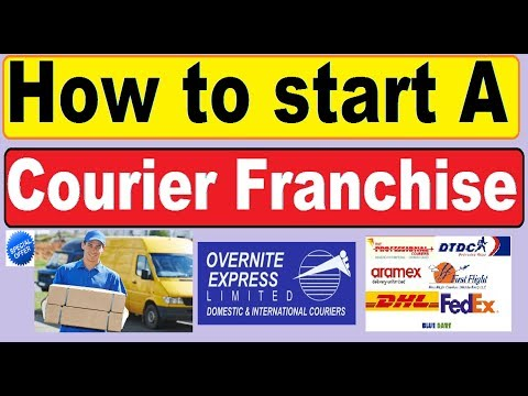 how to start a courier service or courier franchise | courier business|dtdc franchise india