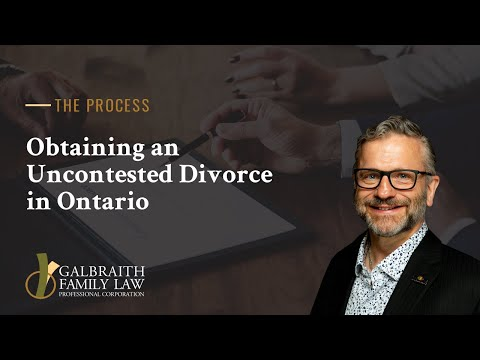 Obtaining an Uncontested Divorce in Ontario