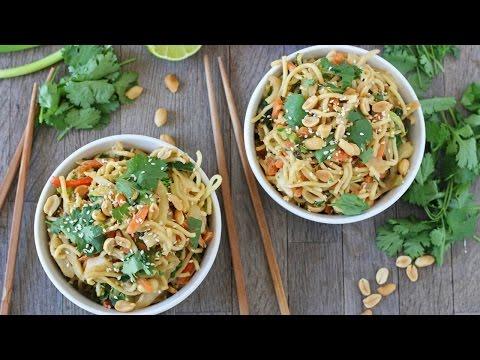Satay Vegetable Noodles   Quick & Easy 5 Minute Meal