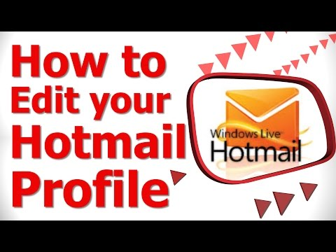 How to Edit your Hotmail Profile