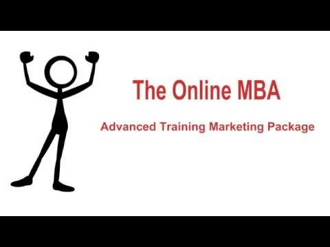 Online MBA:  Advanced Training Package - Marketing Version