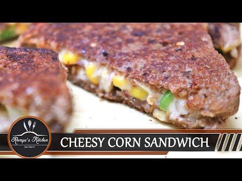 Cheese corn sandwich | Cheesy corn sandwich | Bread sandwich recipe in tamil