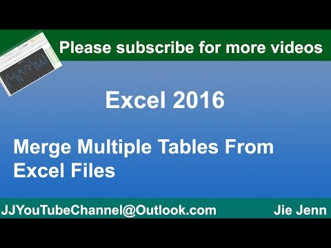 How to Merge Tables From Multiple Excel Files Using MS Access