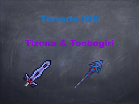 Terraria ios: HOW TO CRAFT THE TIZONA AND TONBOGIRI!