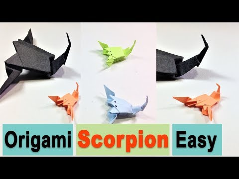 Origami Scorpion Easy Tutorial - how to fold paper art - DIY paper folding - paper crafts idea