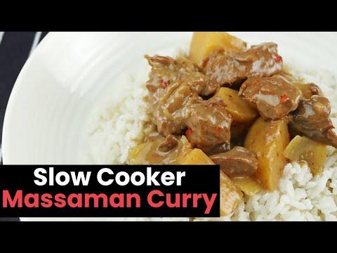 Homemade Slow Cooker Massaman Curry