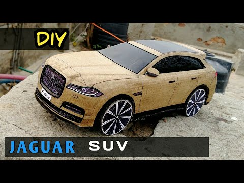 how to make Car | Jaguar F-Pace | Cardboard Craft DIY rc Car | easy to Make | Amazing Kids toy