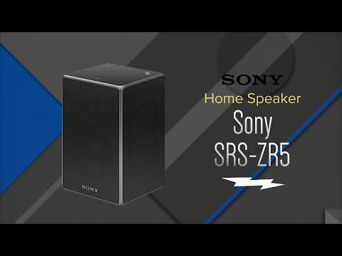 Sony Black Wireless Bluetooth Speaker SRSZR5 - Overview