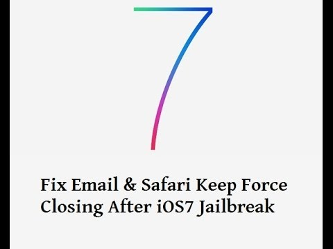 How To Fix Email & Safari Keep Force Closing After iOS7 Jailbreak On iPhone 4/4s/5/5s[January 2014]