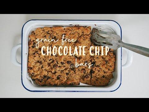 Chocolate Chip Bars//GRAIN-FREE + VEGAN