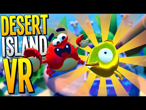SURVIVING ON A DESERT ISLAND IN VR! Catching the Rare Gold Fish! - Island Time VR - VR HTC Vive