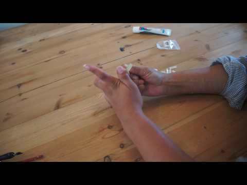 How to make vampire teeth out of false nails