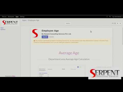 Odoo Average Employee Age - SerpentCS
