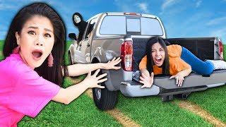REGINA is MISSING in HACKER TRUCK! Extreme Overnight 24 Hour Hide and Seek YouTuber Challenge