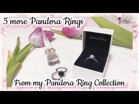 Pandora Rings: 5 more New & Retired Pandora Rings) from my Pandora Ring Collection 2018