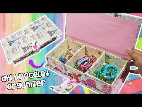 How To Make Bracelet Organizer- DIY Desk Organizer| How To Make Jewelry Box - DIY STORAGE BOX