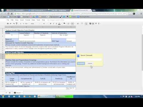 SGOs - How to insert a comment into a spreadsheet cell