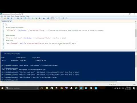 Powershell to create + Edit + Read + Delete file