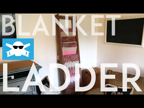 HOW-TO make a BLANKET LADDER & use Wood Stain // Reclaimed Wood