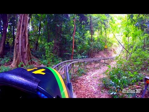 [HD] Jamaican High Speed Bobsled Ride through the Jungle - Mystic Mountain Jamaica
