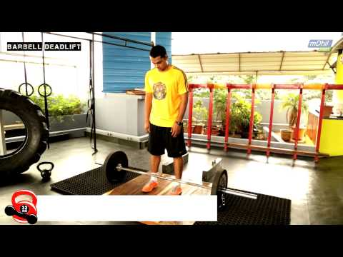 HINDI: How to do a Deadlift, Pushup, and Pull Up  - CrossFit Exercises