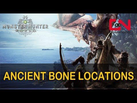 Monster Hunter World Ancient Bones locations