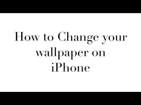 How to Change to Wallpaper on iPhone