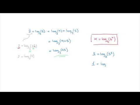 Logarithms - how to simplify numbers being added to or subtracted from logarithms - Tutorial 10