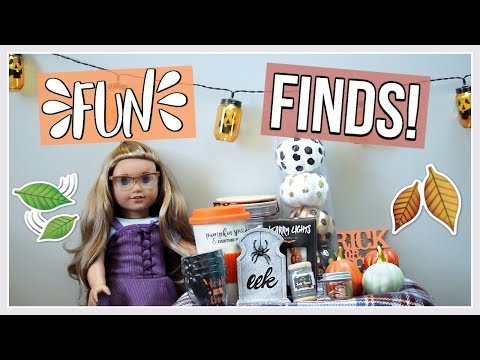 FALL FUN FINDS! | American Girl Doll Target Dollar Spot Haul 2017 Fall