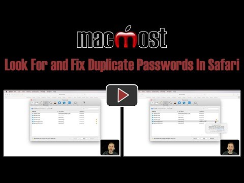 Look For and Fix Duplicate Passwords In Safari (MacMost #1816)
