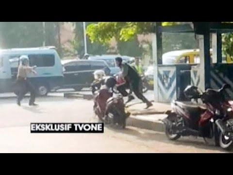 Video Eksklusif: Detik-detik Penyerangan Polisi di Tangerang Kota
