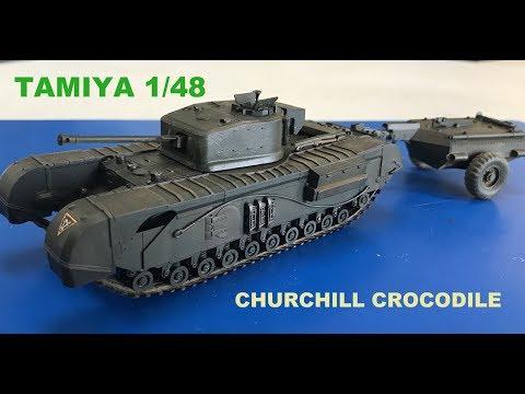 Building the New Tamiya 1/48 Churchill Crocodile Tank