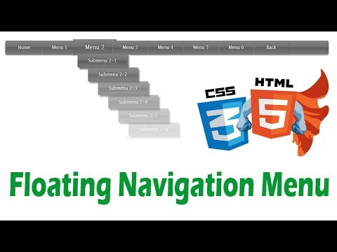 how to create floating navigation menu in html | Learn html and css By Amazing Techno Tutorials