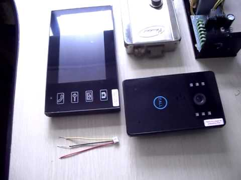 wireless door bell phone,how to install the electric lock?