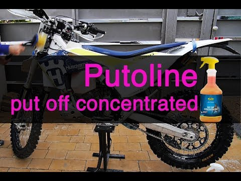 How I clean my dirt bike with Putoline Put Off
