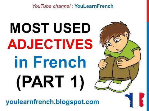 French Lesson 241 - 100 Most common ADJECTIVES in French PART 1 Must know Most used basic adjectives