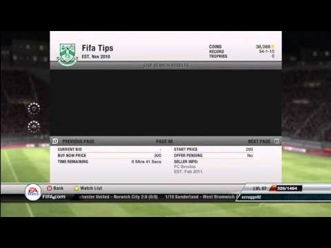 FIFA 12 Ultimate Team - How to make coins (Tutorial)