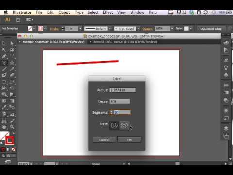 Adobe Illustrator CS6 Line, Arc, Spiral, and Grids