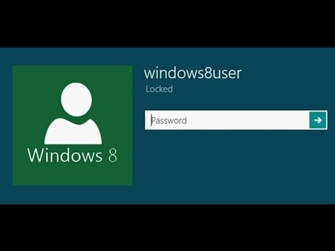 How to bypass the Windows 8 password screen