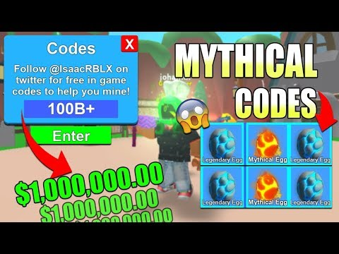 BEST MYTHICAL CODES AND UPDATE 2018 Roblox Mining Simulator,AU2WV