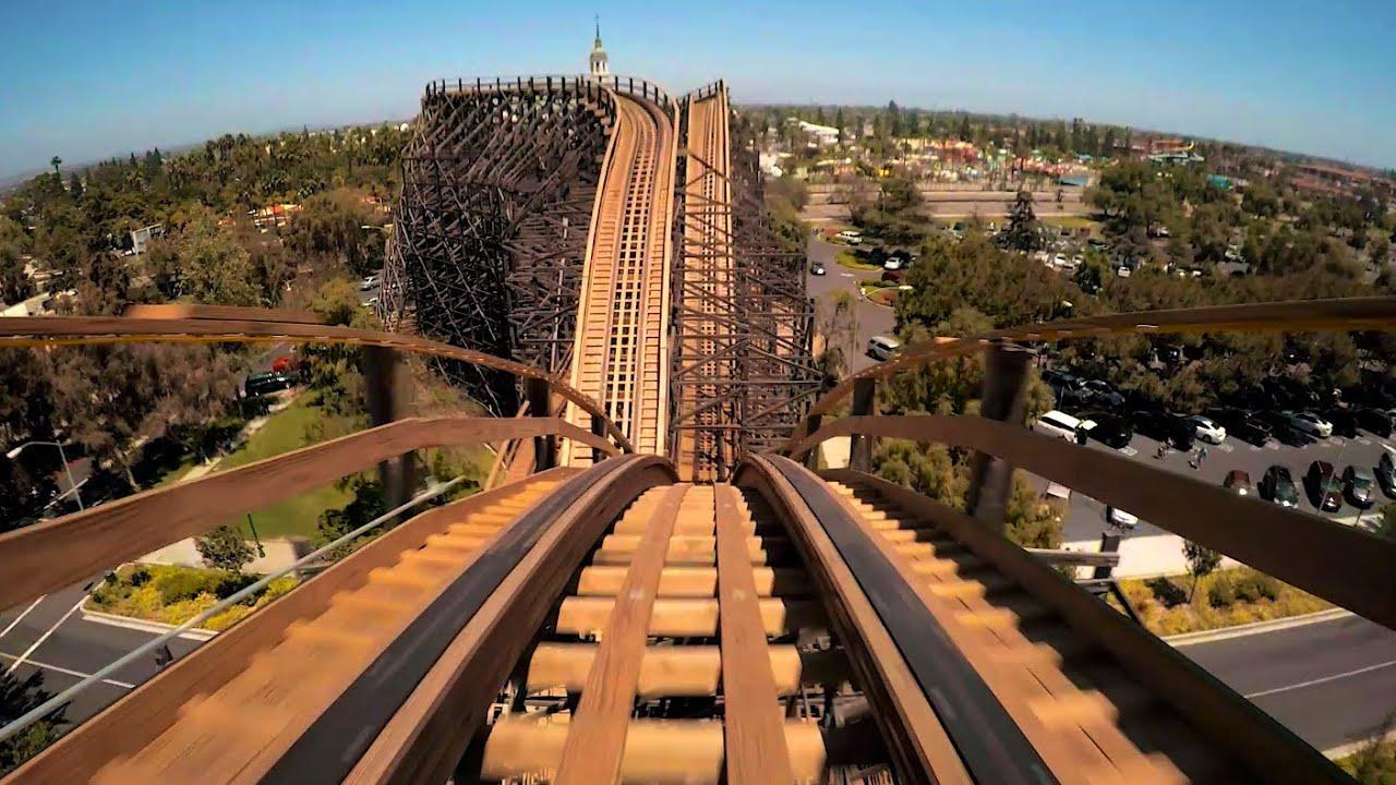 GhostRider Wooden Roller Coaster POV HD 1080p Knott's Berry Farm